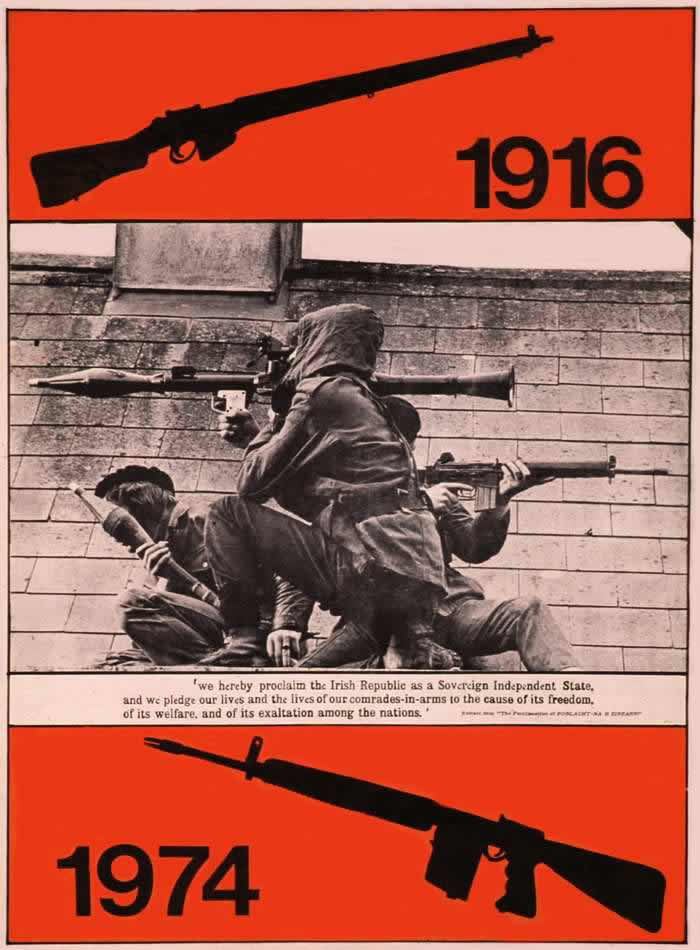 1916 - 1974 годы - Плакат в поддержку Ирландской республиканской армии (1974 год)