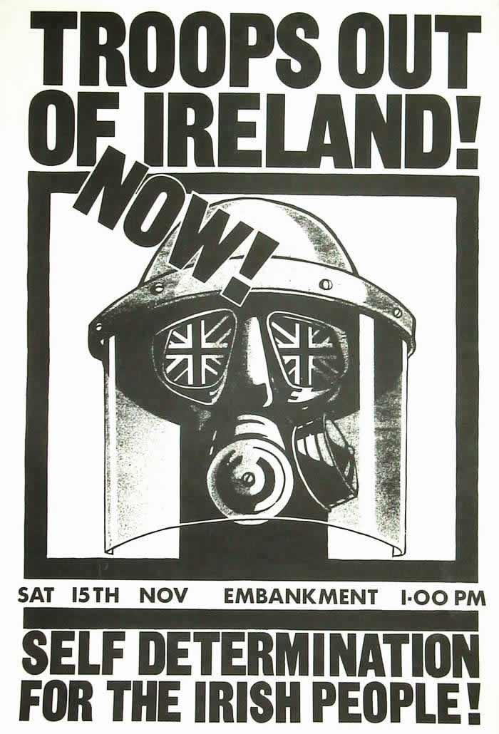 Британские войска - вон из Ирландии! За возможность самоопределения для ирландского народа (1975 год)