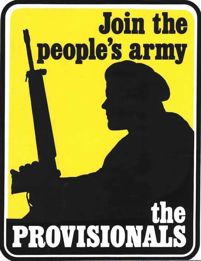 Члены Временной Ирландской республиканской армии - присоединяйтесь к народной армии (Официальной И.Р.А.) (1975 год)