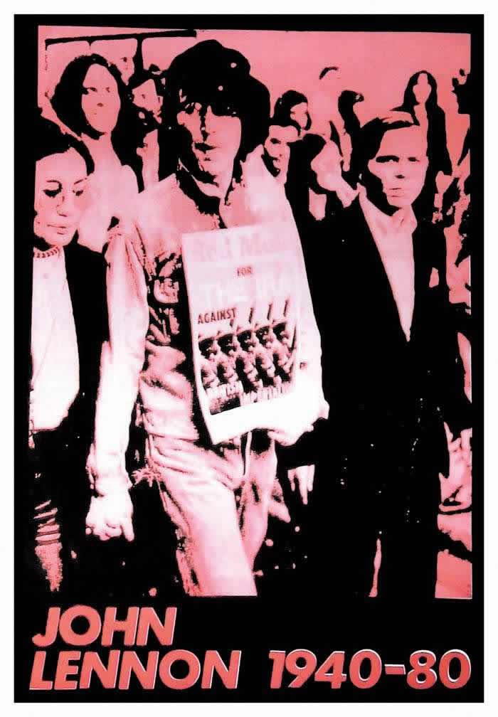 Плакат И.Р.А. с фотографией Джона Леннона и Йоко Оно, несущих плакат с надписью - За И.Р.А. - против Британского империализма (1980 год)