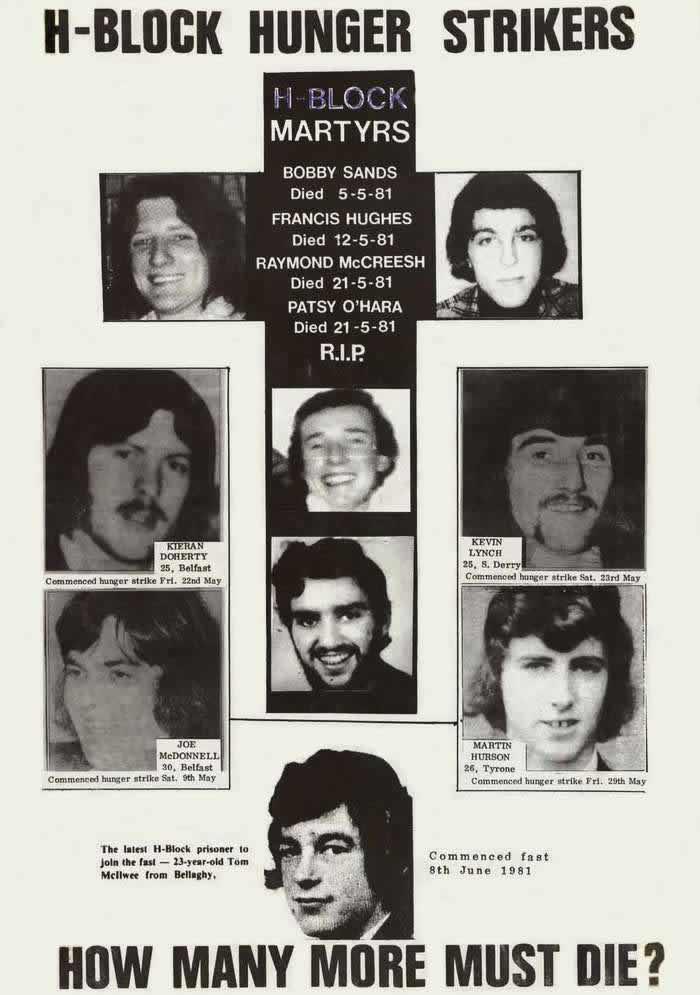 Тюремные узники, умершие в результате голодовки. Сколько заключенных еще должно умереть (1981 год)