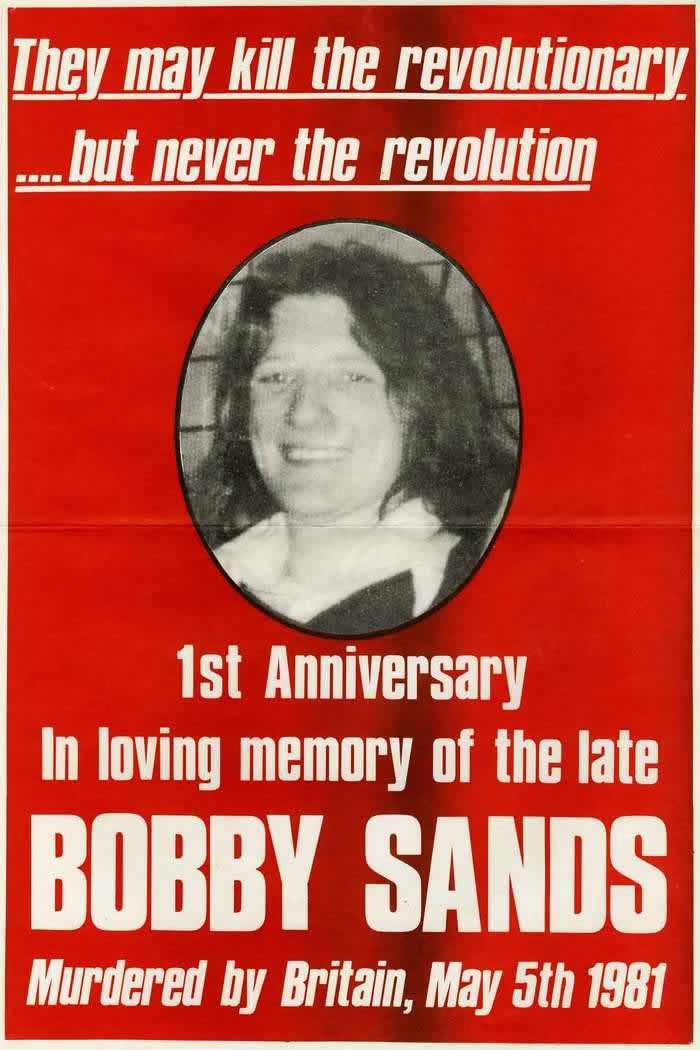 Можно убить революционера, но невозможно убить революцию. Первая годовщина памяти Бобби Сэндса (1982 год)