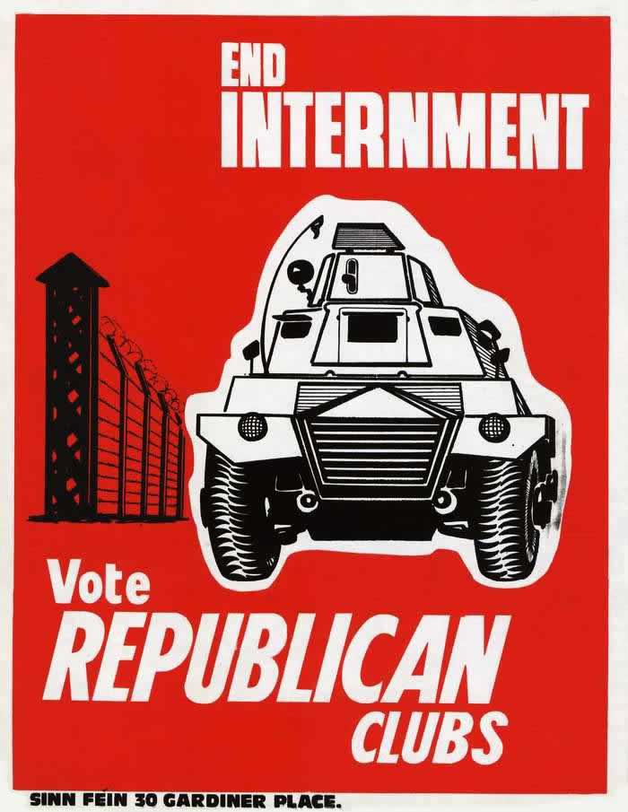 Конец ограничения свобод - голосуйте за республиканское объединение (плакат Шинн Фейн) (1985 год)