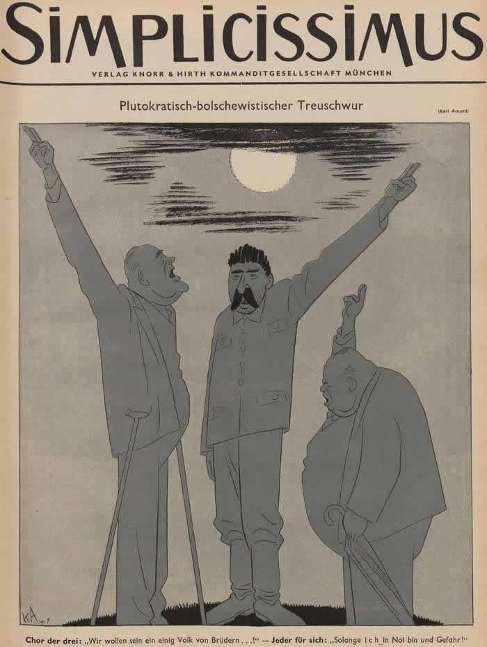 Плутократически-большевистская присяга на верность (Simplicissimus)