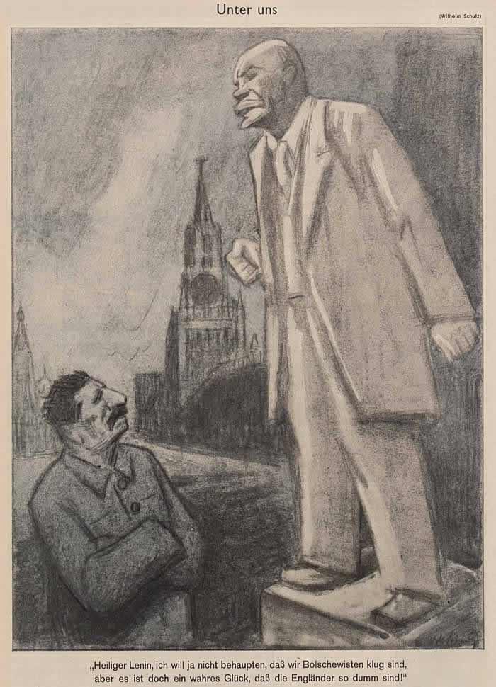 Разговор среди своих - Ленин и Сталин (Simplicissimus)
