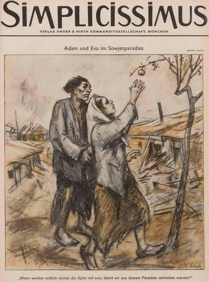 Адам и Ева в советском раю (Simplicissimus)