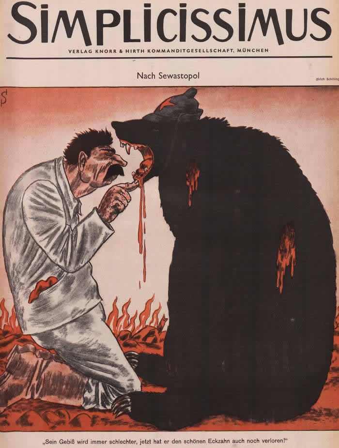 Сталин и русский медведь в Севастополе - Simplicissimus
