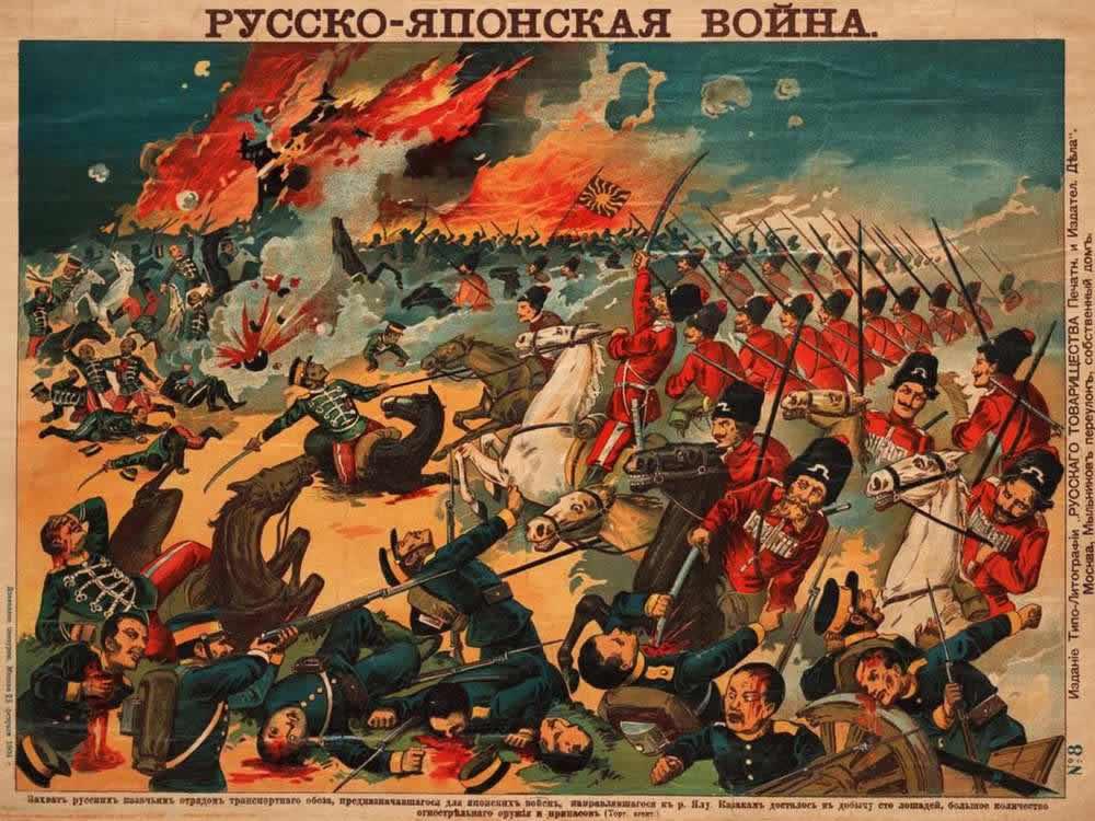 Русско-японская война - Захват русским казачьим отрядом транспортного обоза