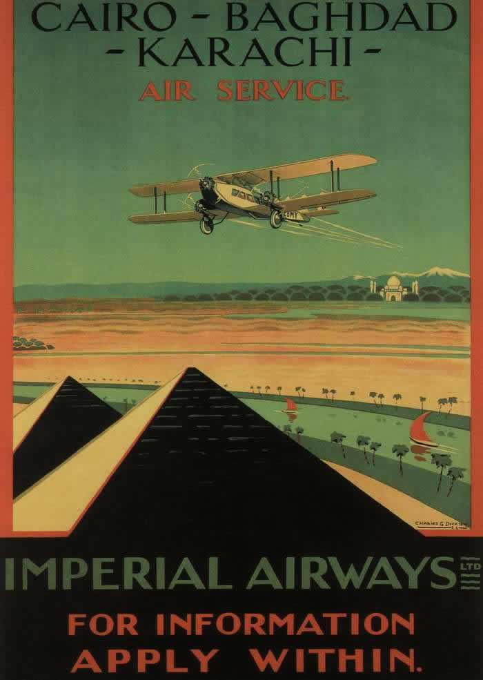 Авиакомпания Imperial Airways -- Каир - Багдад - Карачи (1926 год)