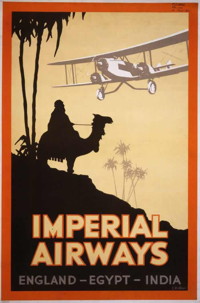 Авиакомпания Imperial Airways -- Англия - Египет - Индия (1927 год)