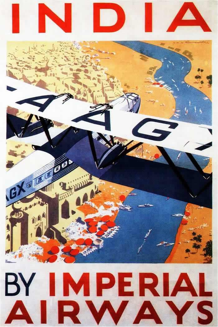 В Индию с авиакомпанией Imperial Airways (1930 год)