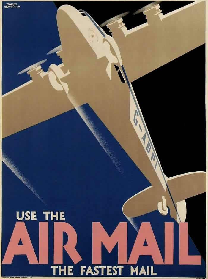 Наши авиапочтовые перевозки обеспечивают самую быструю доставку почты (1932 год)