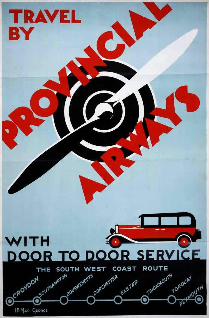Путешествуйте с авиакомпанией Provincial Airways - сервис от двери до двери (1934 год)