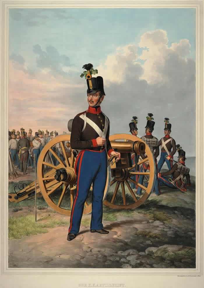 Артиллерист Австрийской императорско-королевской армии - 1835