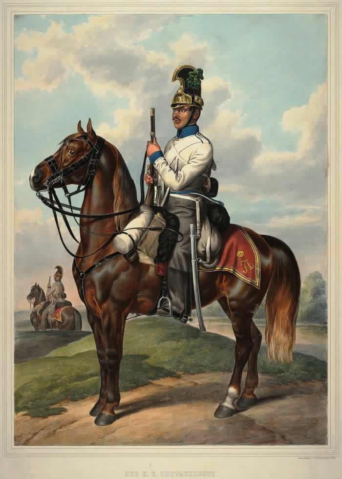 Шеволежер (легкий кавалерист) Австрийской императорско-королевской армии - 1835