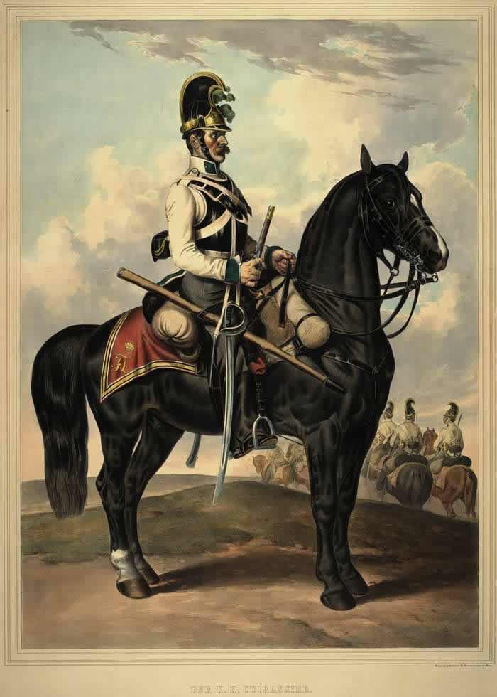 Кирасир Австрийской императорско-королевской армии - 1835