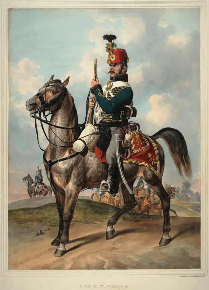 Гусар Австрийской императорско-королевской армии - 1835