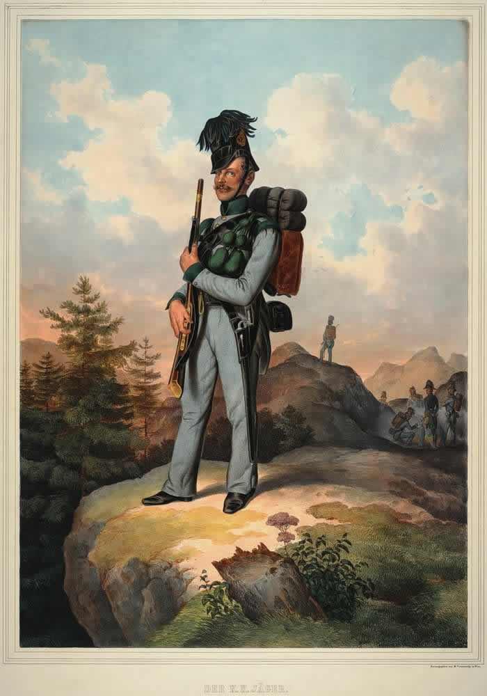 Егерь Австрийской императорско-королевской армии - 1835