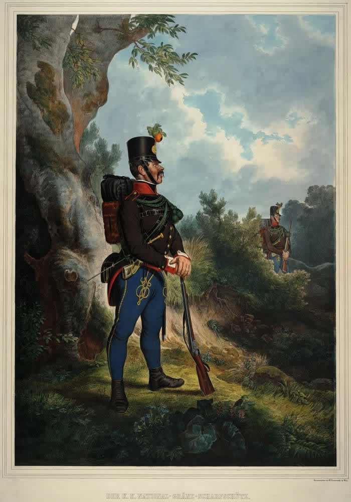 Стрелок Австрийской императорско-королевской национальной пограничной стражи - 1835