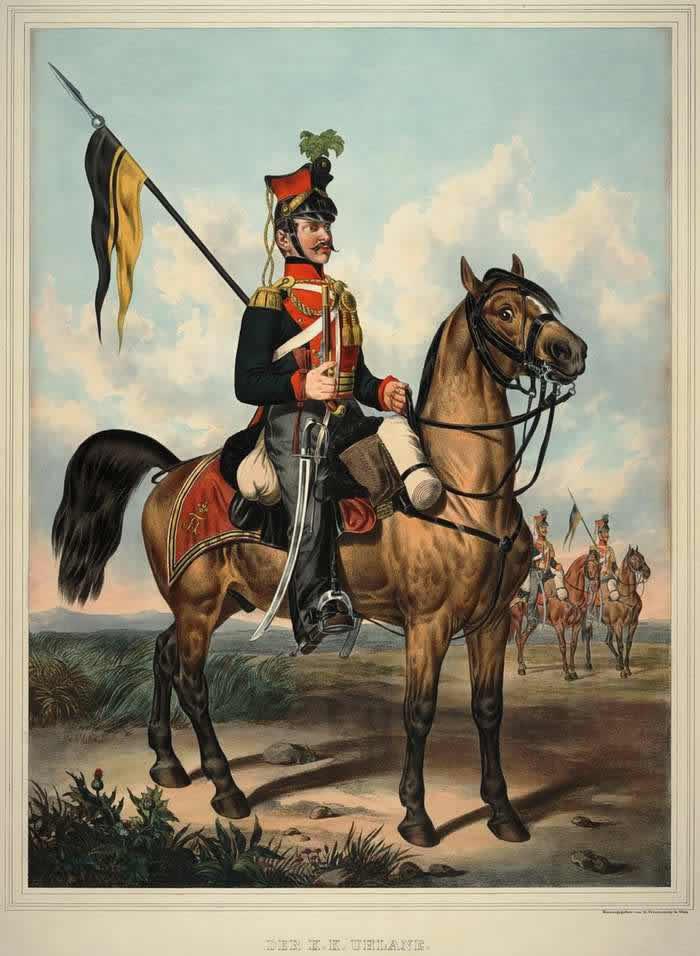Улан Австрийской императорско-королевской армии - 1835