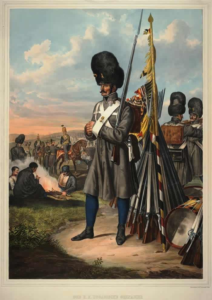 Гренадер Австрийской императорско-королевской армии - 1835