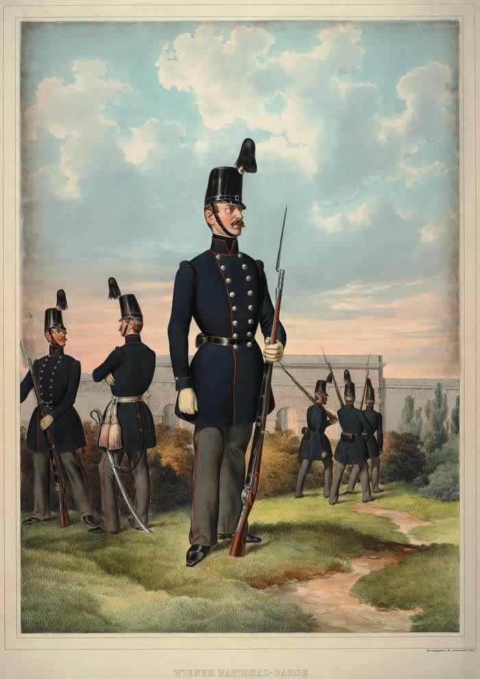 Военнослужащий Венской национальной гвардии - 1835