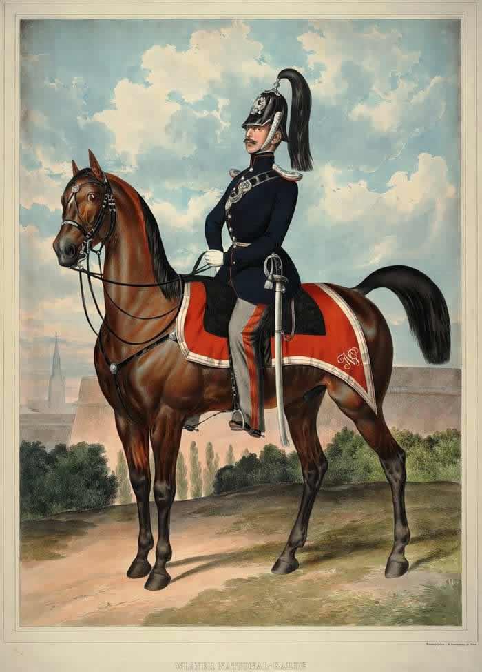 Конный гвардеец из состава Венской национальной гвардии - 1835