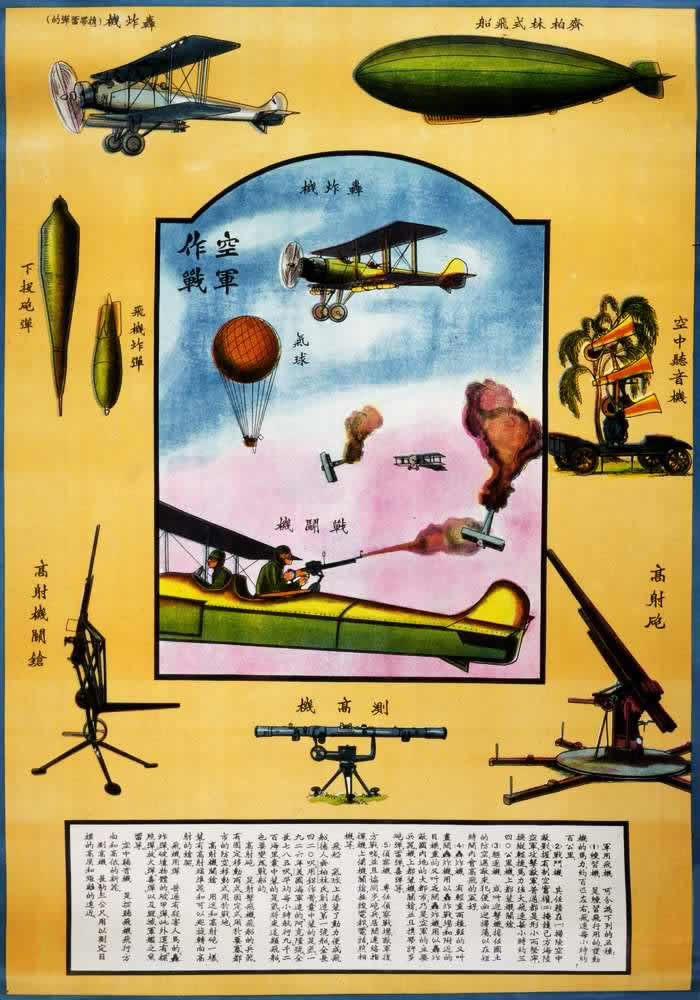Китайские учебные плакаты военной