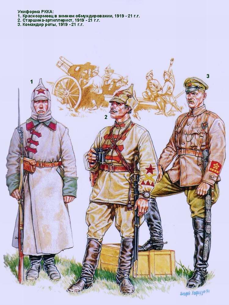 Униформа Красной Армии - 1919