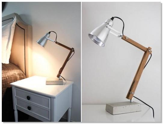 Как сделать настольный светильник в домашних условиях 843