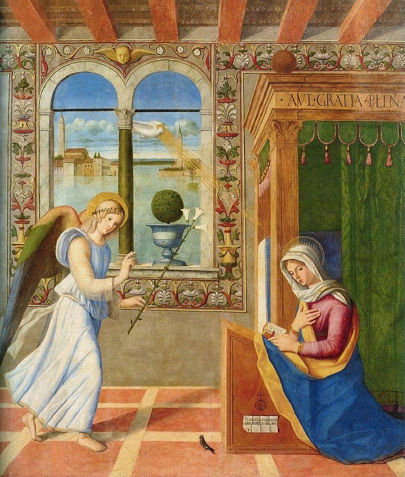 FRANCESCO_di_Simone_da_Santacroce_Annuciation_(1504),_Pinacoteca_Carrara,_Bergamo.