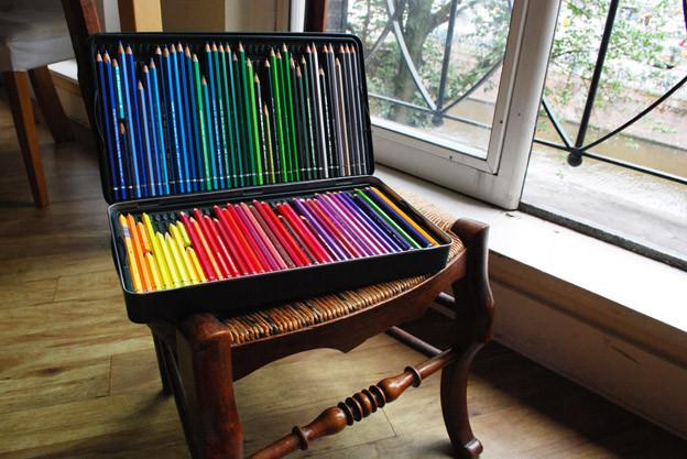 учимся рисовать цветными карандашами: