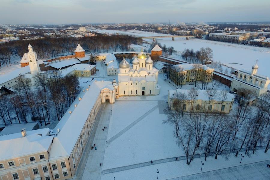 Софийский собор в Новгороде с высоты