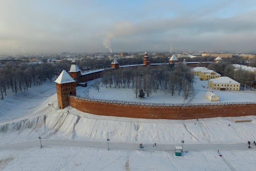 Новгородский детинец с высоты