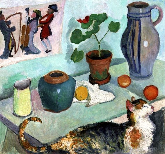 Spirit-of-the-House-Still-Life-with-Cat-August-Macke-1910