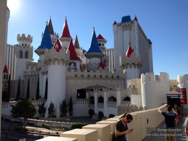 замок отеля-казино Excalibur