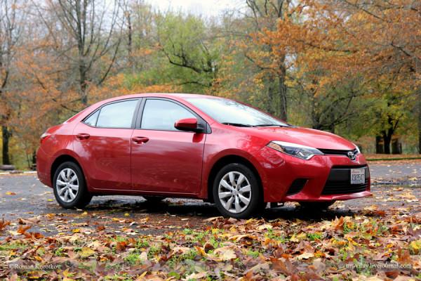 Toyota Corolla на фоне осеннего леса