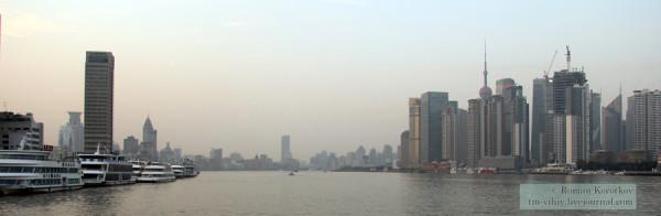 Шанхай, вид с реки Хуанпу