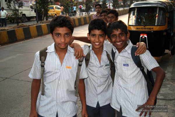 Школьники в Мумбаи