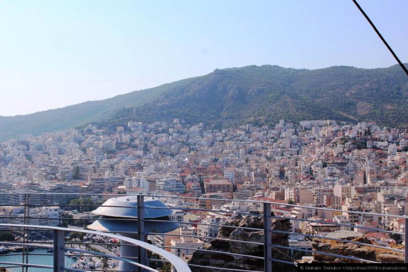 Вид на город Кавала 2