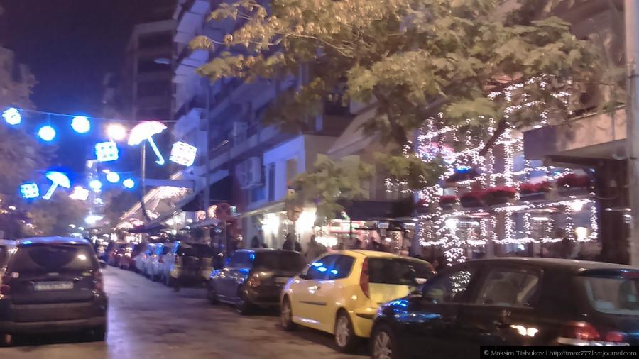 Украшенные улицы города Салоники 2