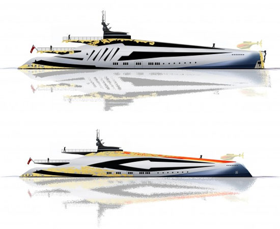 A South Of France Based British Designer Alex McDiarmid Who Has Earlier Designed Concept For 46m Super Yacht And 85m Iwana Few Days Ago Is