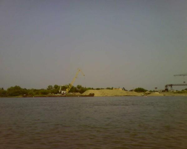 Разгрузка песка пос. Береговой