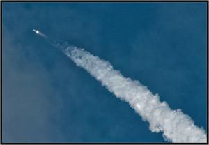 инверсионный след ракеты