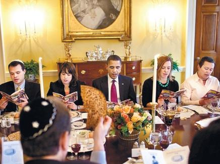 Обама празднует Песах