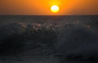 Закат. Атлантика.
