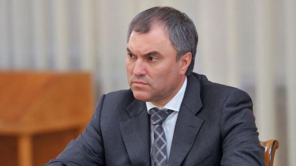 Вячеслав Володин подтвердил, что Сирия включена в повестку пленарного заседания