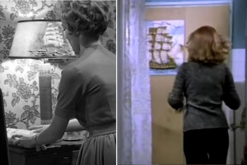 06 Картинка с парусником (слева кадр из «Психо», справа из «Иронии»)