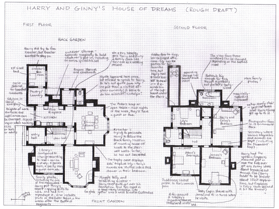 Find Floor Plans For My House Harry Ginny 4ever Harriet M Welsch