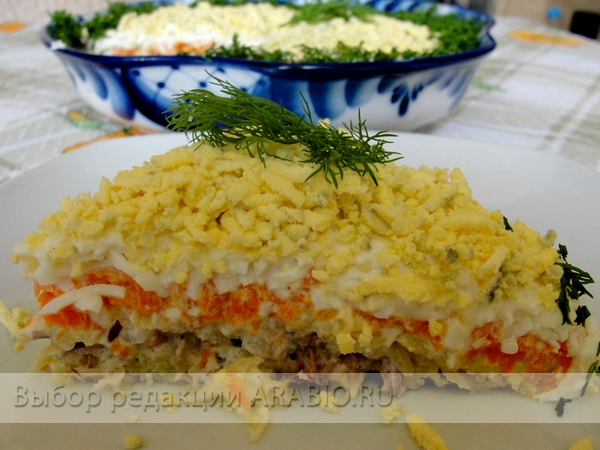 мимозу как делать салат